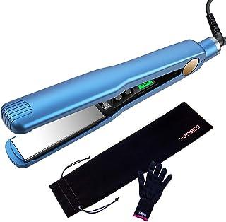 Professional Titanium Hair Straightener 1 1/4 Inch Flat Iron with Digital LCD Display Straightening Iron Heats Up Fast Ant...