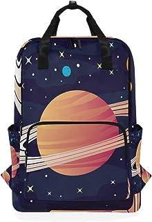 MONTOJ Mochila de Viaje con Anillos de Saturno Mochila Escolar