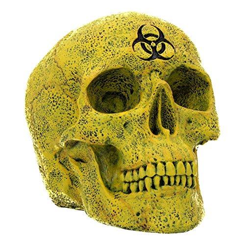 Nemesis Now Dekofigur Totenkopf, aus Kunstharz, 18 cm, Gelb, Einheitsgröße