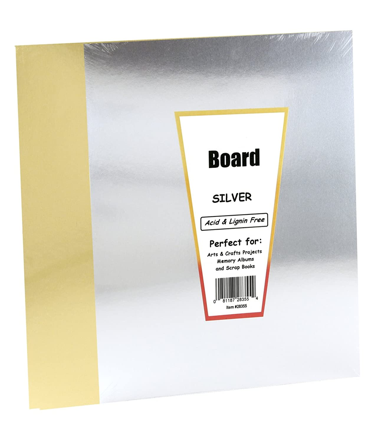 Hygloss Products 851 Metallic Foil Board-10 Sheets, 8.5