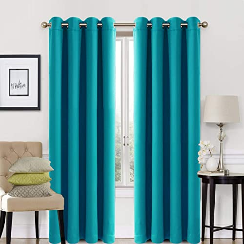 Dark Turquoise Curtains: Amazon.com