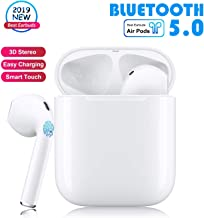 Wireless Earbuds Bluetooth Headphones in-Ear Headphones Noise Canceling 3D Stereo IPX5 Waterproof Sports Headset【Dual HD Microphones】 Pop-ups Auto Pairing for iPhone Android Apple Airpods Earbud