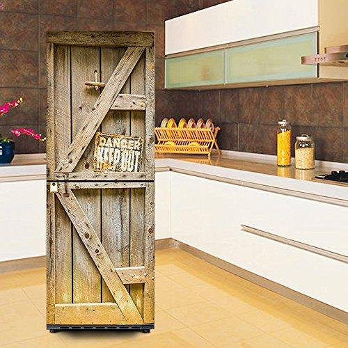 WW Refrigerador Impermeable Pegatina 3D DIY Autoadhesivo Desmontable Decoración Guardarropa Creatividad…