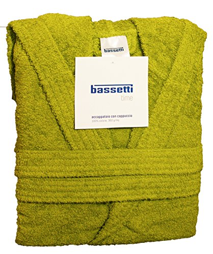 Bassetti Dream - Albornoz para niño/niña con capucha - Talla para 5–6–7–9–10–12años - Confeccionado en rizo de puro algodón 360gr/m² ANNI 5 / 6 Germoglio - 1266