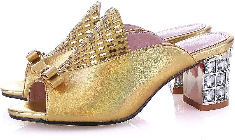Nine Seven Glazed läder Woherrar Rhinestone Exquisite Exquisite Exquisite Heel Mes Slide  stor rabatt
