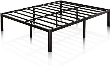 Zinus 40cm Metal Platform Bed with Steel Slat Support/Mattress Foundation Double