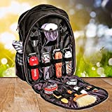 ZPJSZ Barber Tool Backpack Hairdressing Tool Bag Travel Hair Stylist Makeup Tool Organizer for Clippers and Supplies Barber Shop Multifunction Travel Backpack(No Internal Items) Black