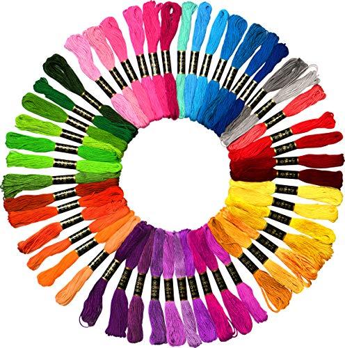 Rainbow Embroidery Floss 50 Skeins Friendship Bracelets Floss Embroidery Thread Cross Stitch Floss