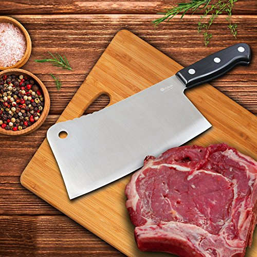 Orblue Stainless Steel Chopper-Cleaver-Butcher Knife