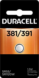 Duracell – 381/391 1.5V Silver Oxide Button Battery – long-lasting battery – 1 count
