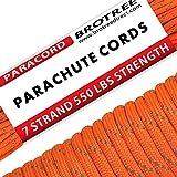 Brotree Paracord Cuerda de Paracaídas de Nylon 550 lbs 7 Resistentes Hebras de Fibra Poli...