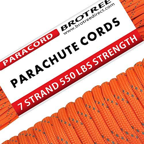Brotree Paracord Cuerda de Paracaídas de Nylon 550 lbs 7 Resistentes Hebras...