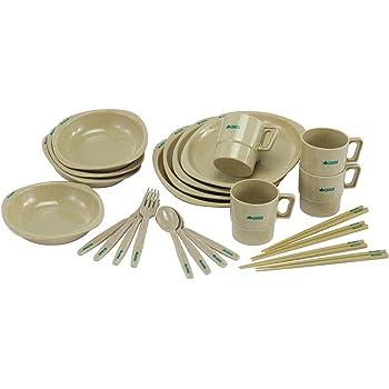 ロゴス(LOGOS) 食器 箸付きディナーセット4人用 収納袋付き
