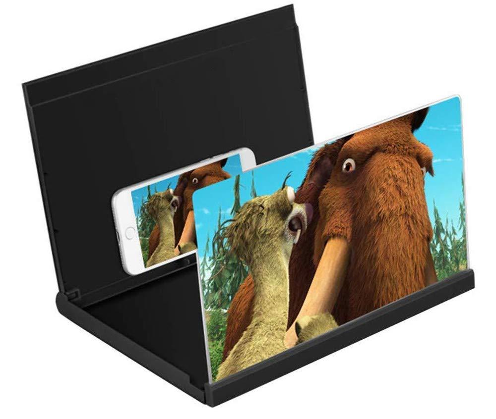 Xyfw 14 HD Lupa Smartphone Lupa Lupa Antirradiación Pantalla para Teléfono Celular Película Video Amplificador De Pantalla Mini Home Theater,Negro: Amazon.es: Electrónica