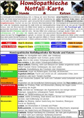 Homöopathische Notfallkarte für Hunde & Katzen - Tierheilkunde-Karte