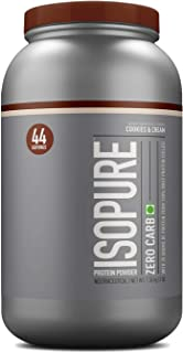 Isopure Zero Carb 100% Whey Protein Isolate Powder - 3 lbs, 1.36 kg (Cookies & Cream)