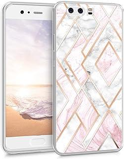 kwmobile telefoonhoesje compatibel met Huawei P10 - Hoesje voor smartphone in roségoud/wit/oudroze - Glory Mix Gekleurd Ma...