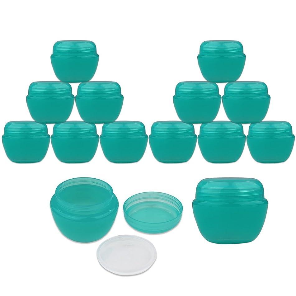beauticom 36件50?g / 50?ml 蓝绿色颜色磨砂容器罐带内衬套适用于乳液 toners 唇膏化妆 samples?–?不含 BPA