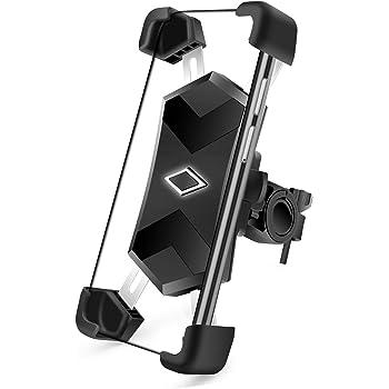 SYOSIN Supporto Bici Smartphone, Porta Cellulare Bici 360° Rotabile Universale in Metallo per Smartphone da 4 a 7 Pollici iPhone, Huawei, Samsung, Xiaomi