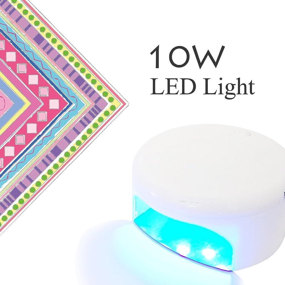 データムサーマルラケットネイル用LEDライト 10W チップLED搭載 【LED10wライト】コンパクトハイパワー保証書。取扱説明書付き ジェルネイル (10W)