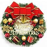 Faraone4w, ghirlanda di Natale da appendere alla porta, accessorio di Natale, 30 cm