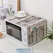 HHYK 4YANG Microondas Cubierta del Horno microondas de la Capilla Aceite de la Cubierta de Polvo con Bolsa de Almacenamiento Accesorios Cocina de la decoración del hogar (Color : Chocolate)