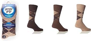 HDUK Mens Socks, 6 Pares Hombres Suave Grip HoneyCombe Top Calcetines No Elásticos by Drew Brady / Vario Color Diseños para elegir / Tallas GB 6-11 y 12-14