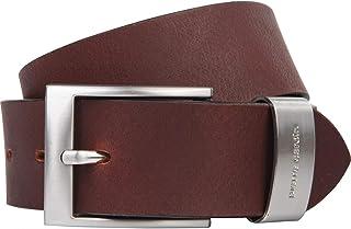 Cintura uomo de pelle Cintura uomo Pierre Cardin marrone scuro 35 mm