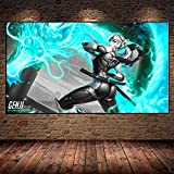 Avdgfr HD Printed on Canvas-[Game Poster Genji VS Hanzo R] Canvas Prints Large-Art Print Images Realised as Wall Picture on Real 40X60cm Frameless
