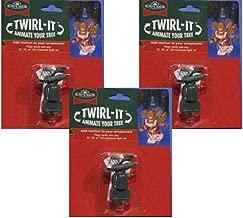 Home Décor Kurt Adler Twirl-It Motor Pigtail Christmas Tree Ball Ornament Spinners-Set of 3