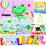 ZMLM Foam Craft Kit Toddler: Preschool Art Craft Supply Kids DIY Art Project Early Learning Educational Toy Activity 3D Animal Sticker for Children Girls Boys Holiday|Party Favor|Game|Birthday Gift