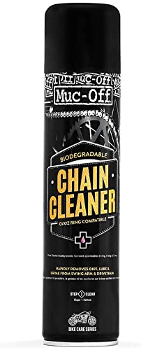 Muc Off Chain Cleaner, 400 Milliliters - Water-Soluble, Biodegradable Motorcycle Chain Cleaner Spray - Suitable for O...