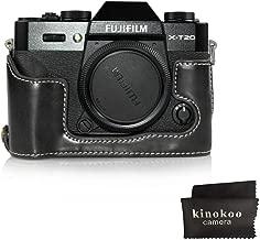 kinokoo Camera Leather Half Case Bottom Case for Fujifilm X-T20 X-T30 Leather Bottom open-able  black