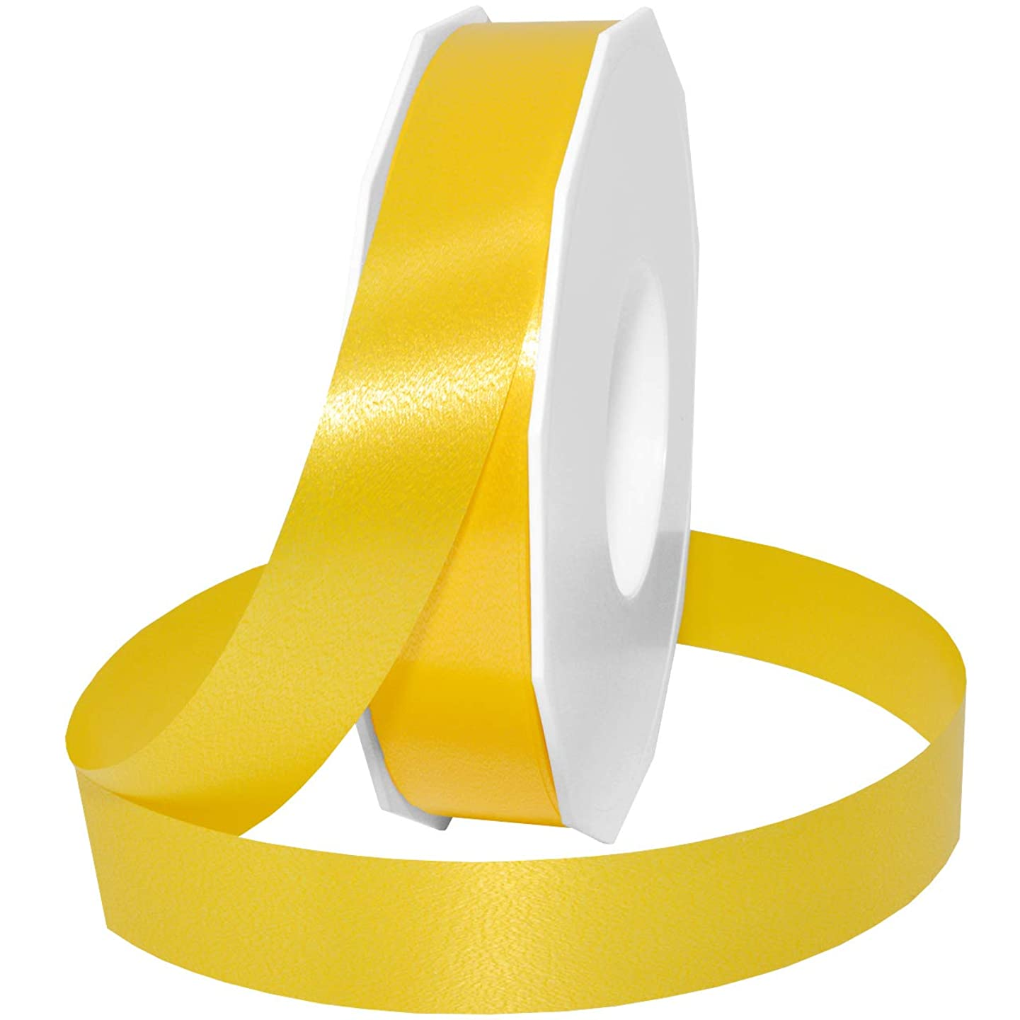 Morex Ribbon Style 187 Ribbon, 1 inch by 100 Yards, Yellow