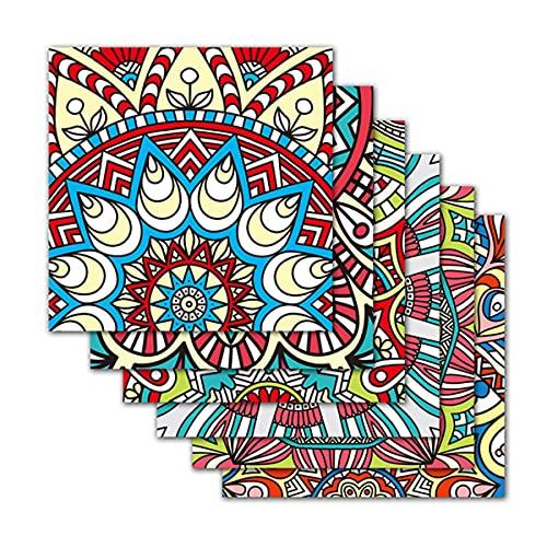 EPEXNYGD 30 Piezas 20x20cm Estilo cerámico Azulejos autoadhesivos Papel Tapiz Adhesivo para Cocina baño salpicadero azulejo de Transferencia Azulejos de Pared decoración Pegatina 05