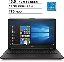 2019 Premium Flagship HP Pavilion 15.6 Inch Laptop (Intel Celeron N4000 up to 2.6GHz, 16GB DDR4 RAM, 1TB HDD, Intel UHD 600, WiFi, Bluetooth, HDMI, DVD, Windows 10) (Renewed)