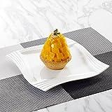 MALACASA, Série Amparo, 12pcs Assiettes à Dessert Porcelaine, Assiettes à Gâteau Plats pour 12 Personnes