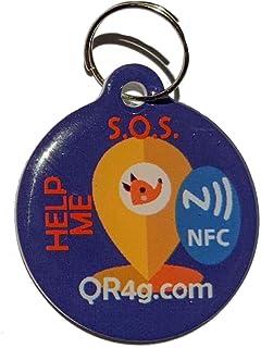 QR4G.com Targa identificativa GPS Smart per animali domestici (cani e gatti) con NFC QR GPS