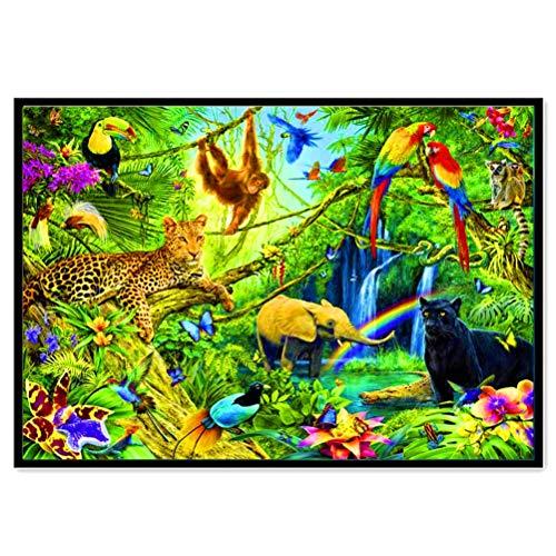 DFSDG Landschaft Diamant 5d Gemälde voller Diamantblumen Elegante ländliche Meer Runde Diamant Mosaik Muster Dekoration DIY Handgemachte Wand (Color : Style 4)