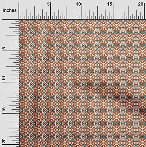 oneOone Flex Algodón Tela florales y azulejos Marroquí Nave Proyectos De La Tela Decoración Impresa Por El Medidor 40 Pulgadas De Ancho