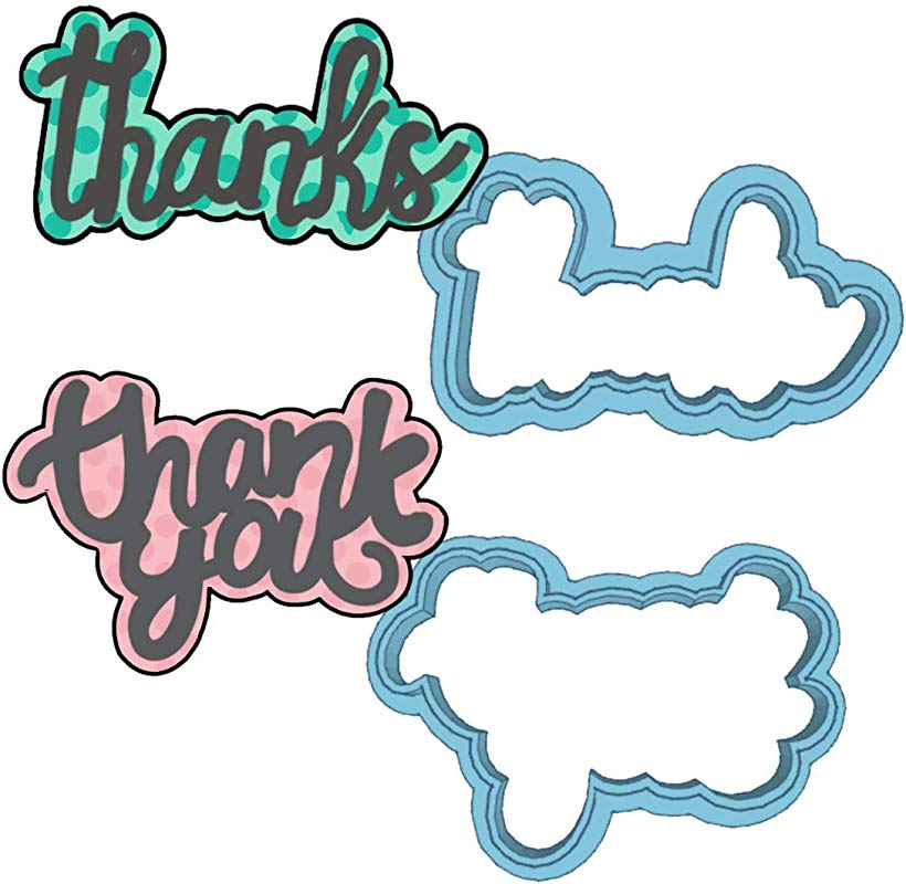 Thanks Thank You Cookie Cutter American Confections Set Of 2 MADE IN THE USA