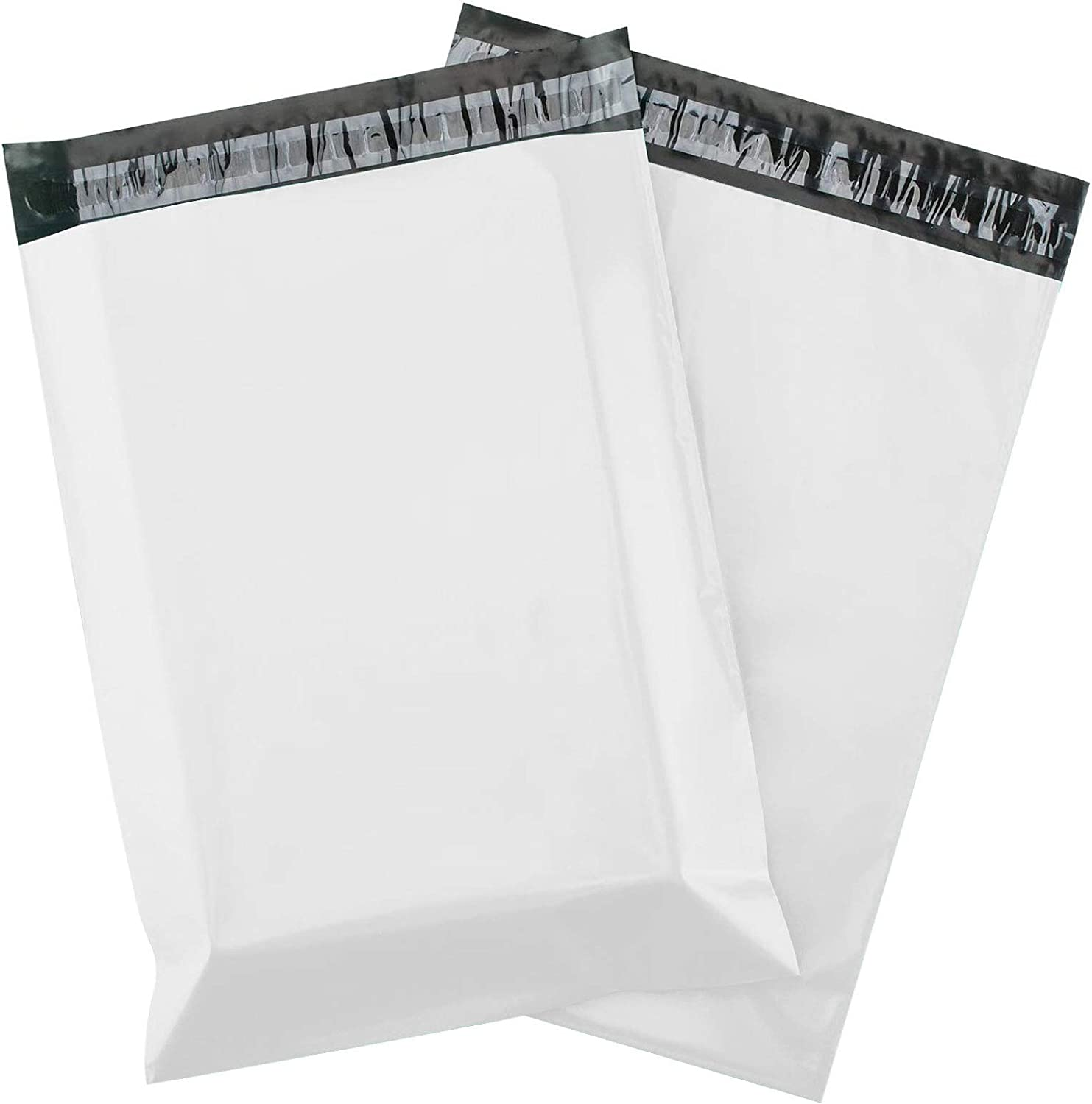 100pcs 11x16.5 Inches White Poly Mailers Shipping Envelops Self Sealing Envelopes Boutique Custom Bags Enhanced Durability Multipurpose Envelopes Keep Items Safe Protected
