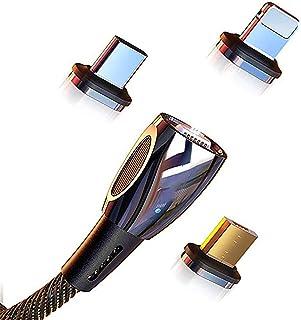 ERJQ bärbar laddkabel, magnetisk magnetisk adsorption port mjuk belysning display smart chip flerskikts chiplad kompatibel...