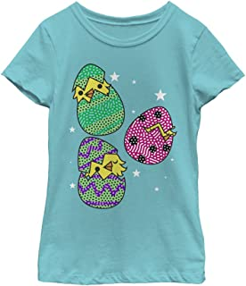 Fifth Sun Girls' Chick Eggs Adorable Easter Tee