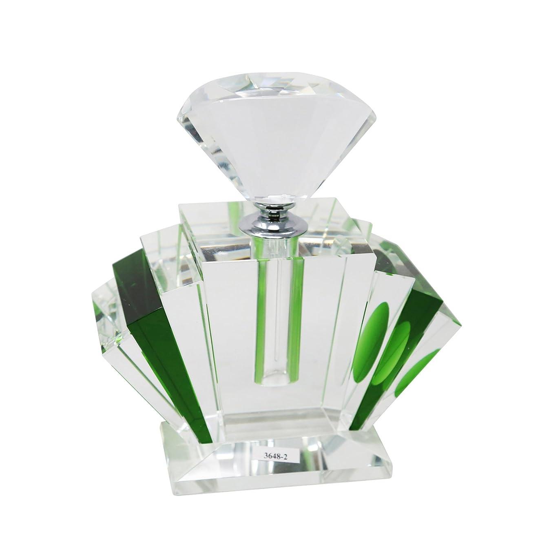 Enchantingクリスタル香水ボトル、グリーンとクリア