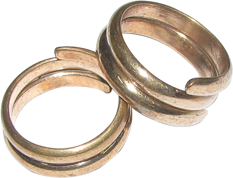 Bakthi Today Panchalogam Spiral Toe Ring Panchaloha Mettalu (5 Metals Panchadhatu) Mettelu Kal Metti