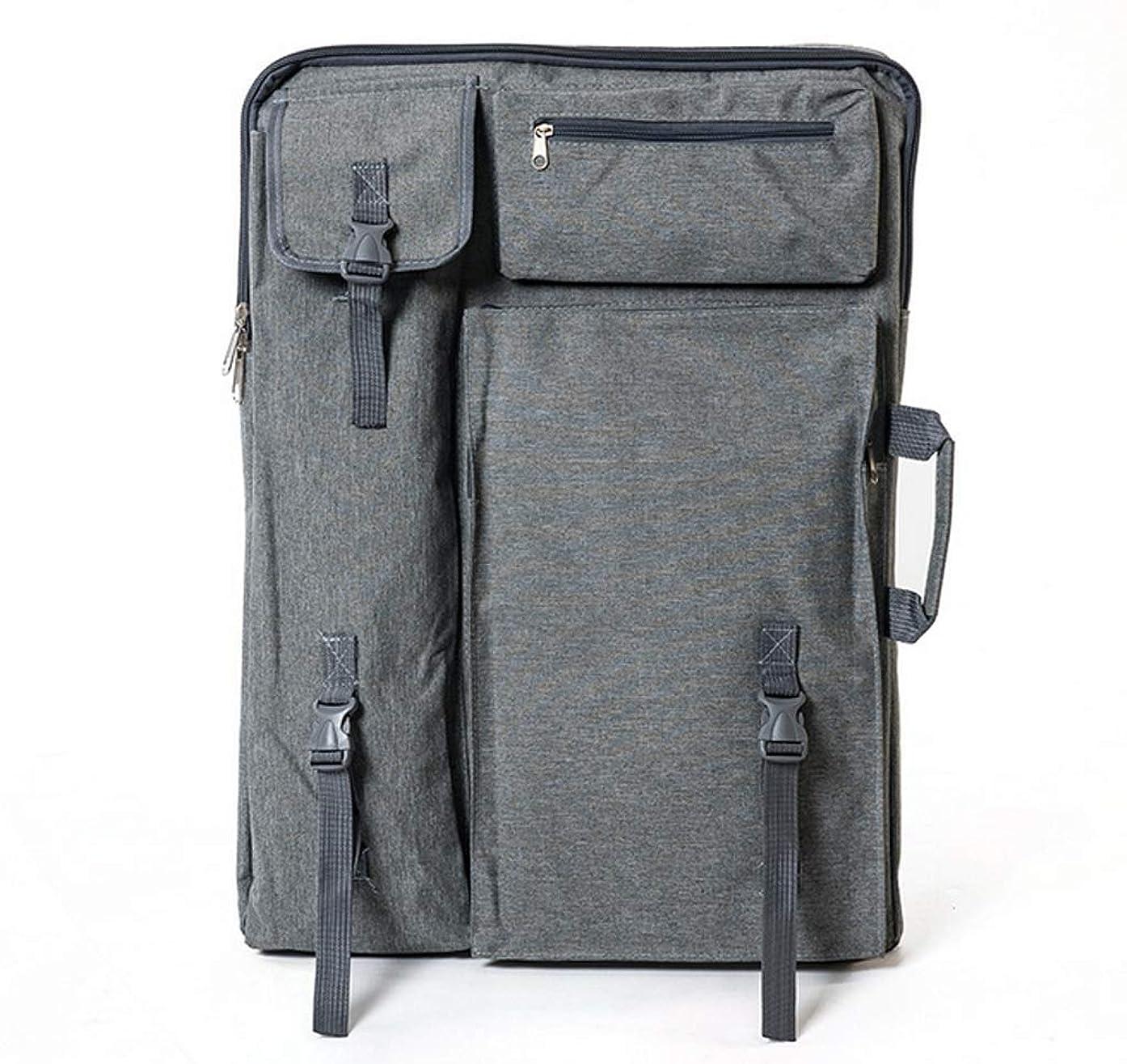 Art Portfolio Bag Carrying Case - Outdoor Artist Art Supply Sketch Board Travel Sketchpad Drawing Board Bag for Artwork Storage Easel Palette Art Student Photo Sketching Painting Easel Palette, Grey