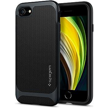 【Spigen】 iPhone SE ケース [第2世代] / iPhone8 / iPhone7 対応 新型 米軍MIL規格取得 二重構造 バンパー 耐衝撃 衝撃吸収 ワイヤレス充電 SE2 アイフォンSE (2020年モデル) アイフォン8 アイフォン7 カバー シュピゲン ネオ・ハイブリッド ヘリンボーン ACS00952 (メタル・スレート)