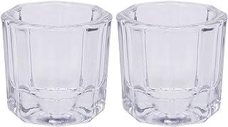 Shapenty Nail Art Acrylic Liquid Powder Dappen Dish Glass Crystal Cup Containers Glassware Tools for NailPolishRemover E...