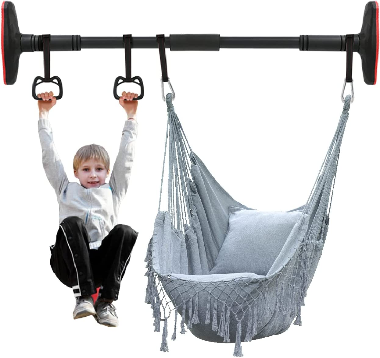 BXL Albuquerque Mall Hammock Raleigh Mall Chair Hanging Rope Swing Exquisite Up Bar with Pull